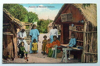 Postcard Family Of Mexican Indians