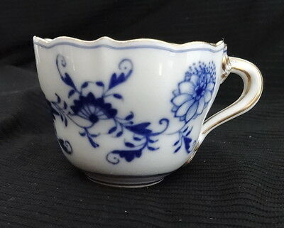 Meissen First Quality Ornate Blue Onion Pattern Demitasse Cup Only  Vintage