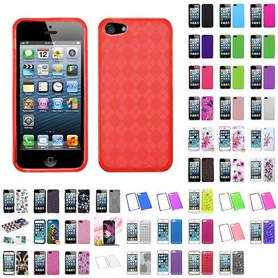 For Apple iPhone 5S/5 Case Cover Accessories Hybrid Armor TPU Silicone TUFF