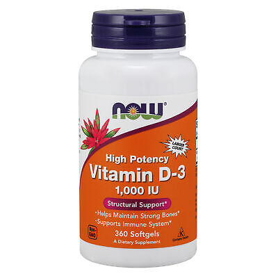 Now Foods, Vitamin D3, High Potency - 1000 IU x360 Softgels