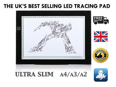 A3 Size LED Ultra Slim Art Craft Tracing Tattoo Light Box Pad Board Lightbox