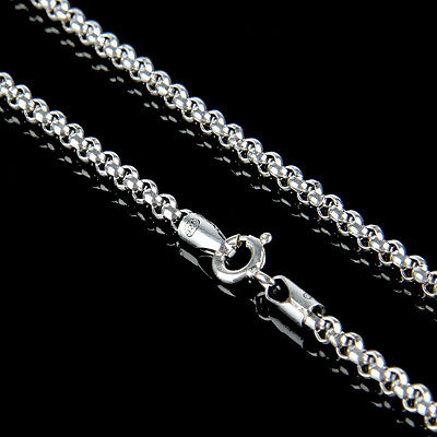 Heavy 925 Sterling Silver Mens Gift Belcher Chain Necklace 3mm 18 Inch Jewellery