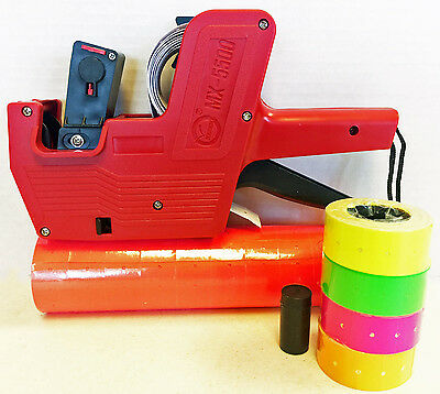 MX-5500 8 Digits Price Tag Gun Labeler Labeller Plus 5000 RED labels +Free Gift
