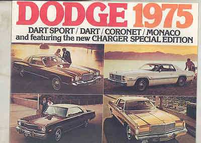 1975 Dodge Dart Sport Coronet Monaco Charger Special Ed. Brochure Canada my3250