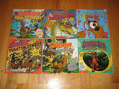 Lot of 6, Cartoon Network, Scooby-Doo Paperback Books for Ages 8-12 Ships FAST!