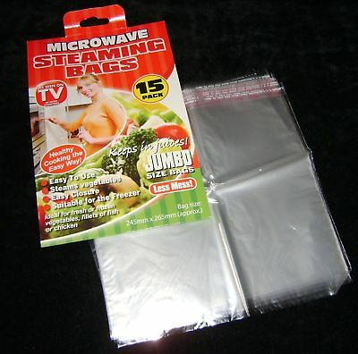 New 15 Microwave Steaming Bags For Healthier Steamer Cooking Vegetables  Pms
