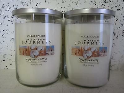 EGYPTIAN COTTON Yankee Candle large 2 wick Tumbler Jars **LOT OF 2**