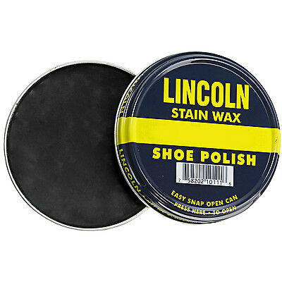 Lincoln Stain Wax Shoe Polish 3 oz | 12 COLORS (Black, Brown, Neutral & more!)