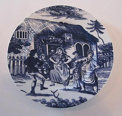 "Williamsburg 'Country Courtship' 10-1/2"" Blue Plate - Andrea by Sadek of Japan"