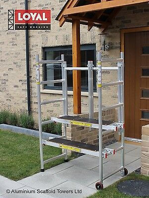 Mini Foldable Aluminium Scaffold Tower I Low Level Platform I 2 Platforms