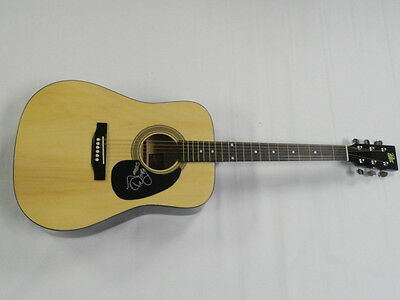 James Wesley Signed Full-Size Natural Acoustic Guitar Country Superstar