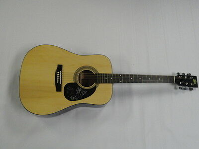 Parmalee Signed Full-Size Natural Acoustic Guitar Country Superstars All 4