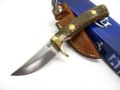 COLT Stag SKINNER Straight Fixed Blade HUNTING Hunter Knife + Sheath New! CT834