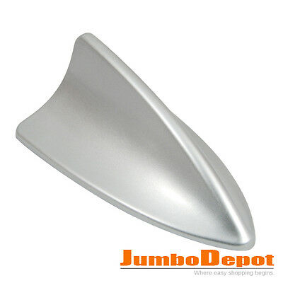 Shark Fin Style Roof Mount Aerial Antenna Mast Decor Universal For Car Auto Gray