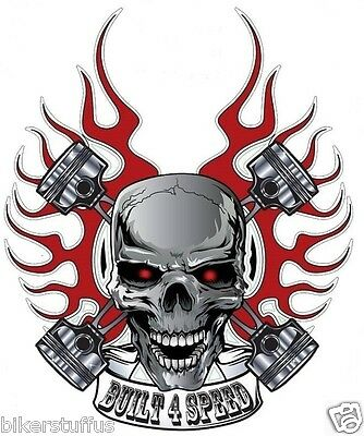 Build 4 Speed Skull Helmet Sticker Hard Hat Sticker Laptop Sticker Toolbox
