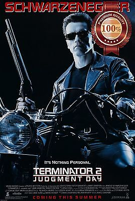 New Terminator 2 Judgment Day Movie Schwarzenegger Original Print Premium Poster