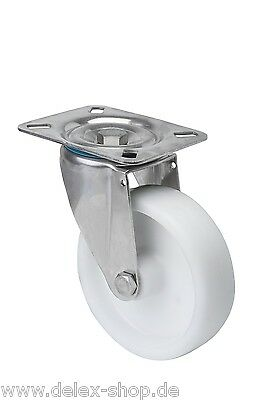 Wheels Rollers from stainless steel Rust-free INOX A2 80mm NIRO