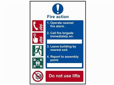 Scan Fire Action Procedure - Pvc 200 X 300Mm Sign