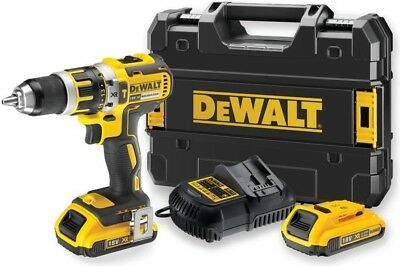 DeWalt Compact Brushless Hammer Drill Driver 18V 2 x 2.0Ah Case/Charger DCD795D2