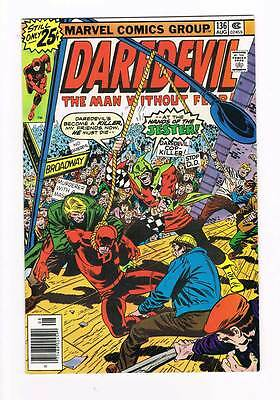 Daredevil # 136 A Hanging for a Hero ! grade - 9.0 hot scarce book !!