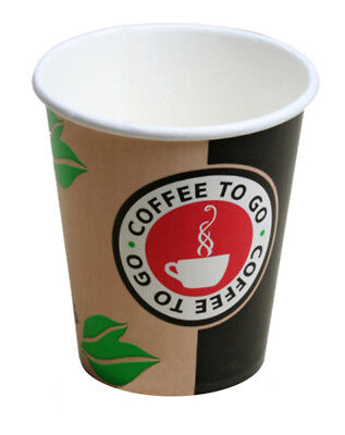 1.000 Coffee to go Becher Kaffeebecher Coffeetime 0,2l Pappbecher Coffeebecher