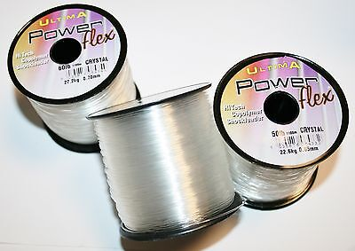 Ultima PowerFlex Shock Leader  Crystal 4oz spools