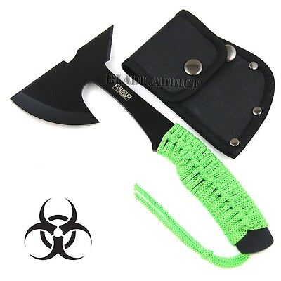 """9"""" ZOMBIE SURVIVAL TOMAHAWK THROWING AXE BATTLE Hatchet knife hunting 7608-F"""