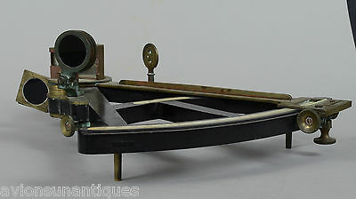 19C G Gowlands Liverpool Ebony Brass Octant Sextant With Mahogany Box