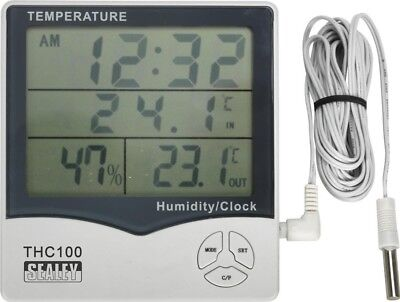 Sealey Thermometer (In/Out)/Hygrometer/Clock THC100