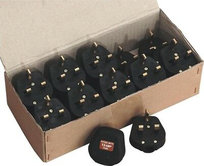 Sealey Resilient Plug 13Amp Heavy-Duty Pack of 20