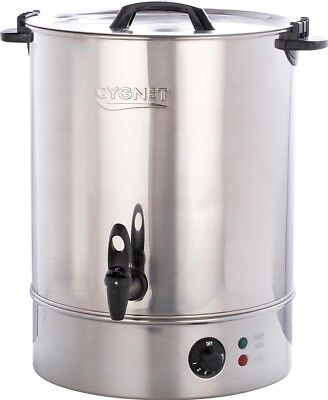 Burco Cygnet 30L Hot Water Urn Tea Catering Boiler Manual Fill | Stainless Steel