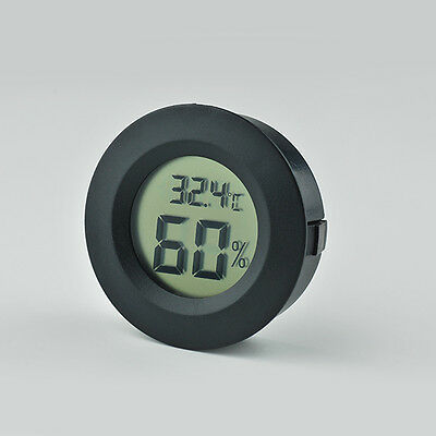 Embedded Round Digital Thermometer Hygrometer Temp Humidity Test LCD 45*15.5mm