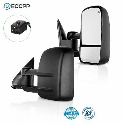 Tow Power Heated Door Towing Mirrors Side Mirror Pair for 99-02 Chevy GMC Truck