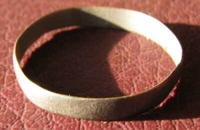 Authentic Antique to Ancient Bronze WEDDING BAND RING Sz: 10 1/2 US 20mm 11715