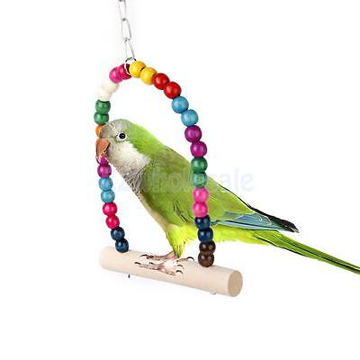 Colorful Swing Bird Toy Parrot Cage Toys Cockatiel Finch Lovebird Budgie