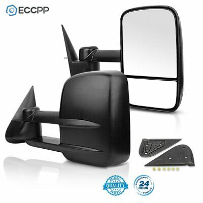 For 1999-2006 Chevy Silverado GMC Sierra Manual Telescoping Towing Side Mirrors