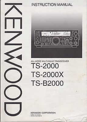 Kenwood TS-2000 2000X B2000 Transceiver - Original Manual - Very Nice Condition!