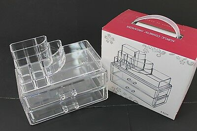 Cosmetic Makeup Jewelry Lipstick brush Ring Clear Acrylic Case Organizer K8228 B