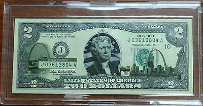 2003A $2 Bill Overprints UNC in Hard Plastic Holders - ALL 50 STATES!!!