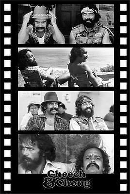 CHEECH AND CHONG - FILMSTRIP POSTER - 24x36 SHRINK WRAPPED - COLLAGE MOVIE 769