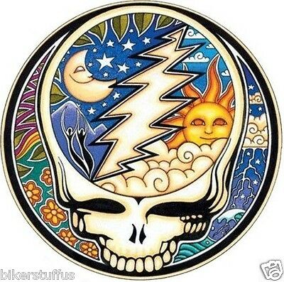 Grateful Dead Night And Day Steal Your Face Bumper Sticker Helmet Sticker