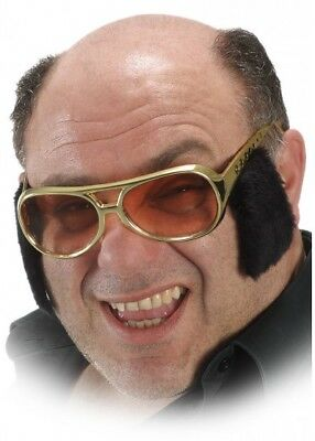 Rock N Roll Sunglasses With Sideburns Elvis Fancy Dress Mens Stag Night Glasses