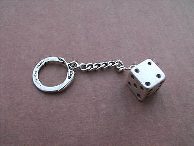 Vintage Sterling Silver Lucky Dice Key Chain Pill Snuff Box Taxco 35g No Scrap