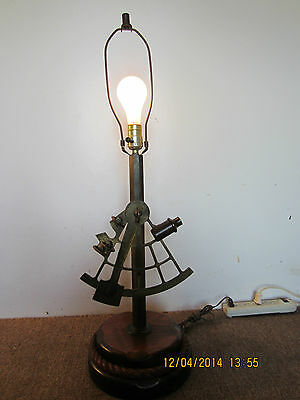 Decorative, Replica, Brass Sextant Table Lamp