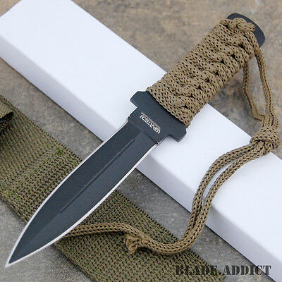 "7"" Double Edge Military Tactical Fixed Blade Boot Knife Throwing K1050-8-S"