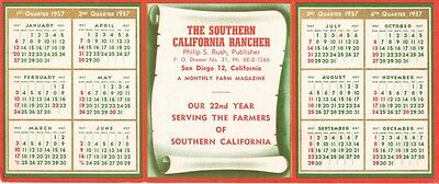 BLOTTERS (2) 1957 & 1959, SAN DIEGO, THE SOUTHERN CALIFORNIA RANCHER