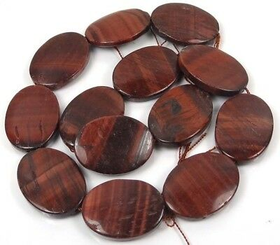 """30x20mm Natural Red Tiger Eye Oval Beads 16""""  SALE!!!"""
