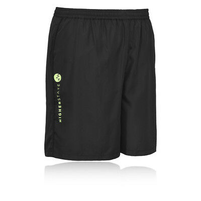 Higher State Mens Black Running Sport 7 Inch Breathable Lightweight Shorts New