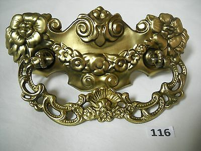 Antique Victorian Brass Ornate Drawer Pull
