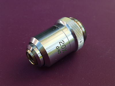 Microscope Objective Lens 20x 0.40 Made in Japan